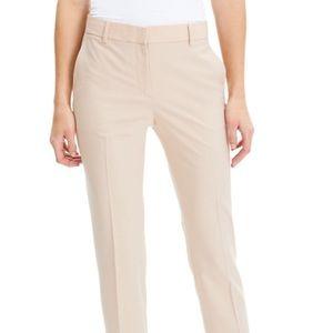 Theory Bootcut blush trousers